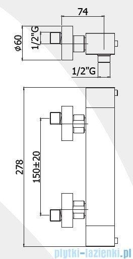 Paffoni Bateria natryskowa termostatyczna Level Termostatic chrom LEQ268CR