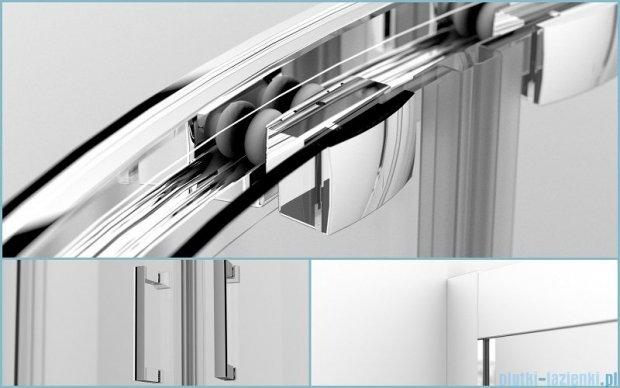 Besco Modern kabina półokrągła 90x90x165cm grafit MP-90-165-G