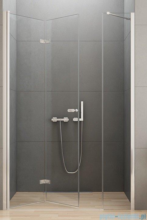 New Trendy New Soleo Plus drzwi wnękowe bifold 120x195 cm przejrzyste lewe D-0150A/D-0095B