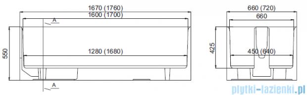 Schedpol nośnik monolityczny do wanny prostokątnej 160x70cm 1.005