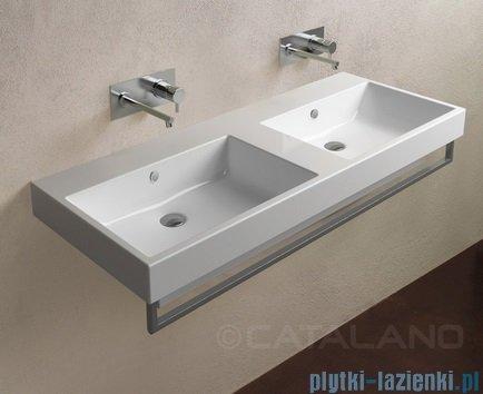 Catalano Zero 125 umywalka podwójna 125x50 biała 1125ZE00