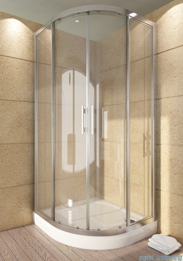 SanSwiss Top-Line TOPR Kabina prysznicowa półokrągła 90-120cm profil srebrny TOPR55SM20107