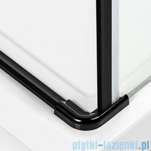 New Trendy Negra kabina prysznicowa dwudrzwiowa 90x80cm przejrzyste EXK-1128/EXK-1193