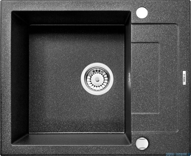 Deante Rapido zlewozmywak 1-komorowy z krótkim ociekaczem 59x49 cm grafitowy ZQK 211A