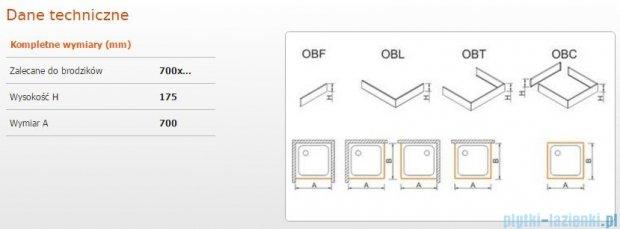 Sanplast obudowa frontowa do brodzika OBF 70x17,5cm biała 625-403-0110-01-000