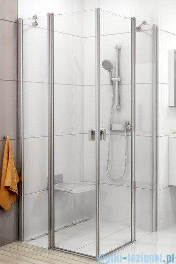 Ravak Chrome Kabina prysznicowa narożna, jedna połowa CRV2-120 biała+transparent 1QVG0100Z1