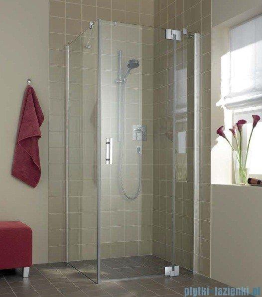 Kermi Filia Xp Drzwi wahadłowe z polem stałym, prawe, szkło przezroczyste KermiClean, profile srebrne 90x200cm FX1WR09020VPK
