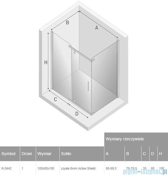 New Trendy New Komfort 100x80x195 cm kabina prostokatna przejrzyste K-0442