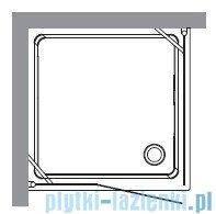 Kerasan Kabina kwadratowa prawa szkło przejrzyste profile brązowe 100x100 Retro 9149T3