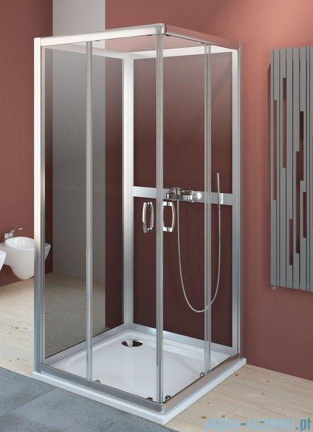 Radaway Premium Plus C+2S kabina czterościenna kwadratowa 90x90 szkło fabric 30453-01-06N/33433-01-06N
