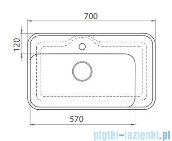 Cerastyle Lal umywalka 70x41,5cm wpuszczana / nablatowa 072300-u