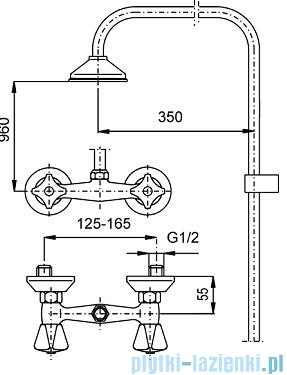 KFA STANDARD Bateria natryskowa ścienna 306-790-00