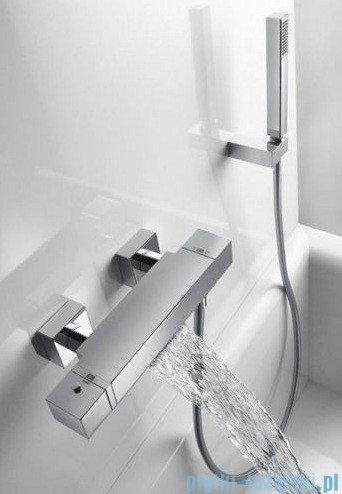 Tres Cuadro Exclusive Bateria termostatyczna wannowa kolor biały chrom 4.07.174.9