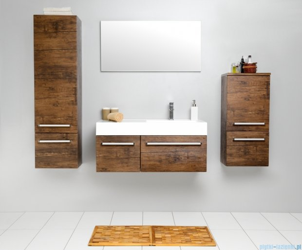 Antado Spektra szafka z umywalką, wisząca 100 stare drewno FDF-442/6GT-50 + FDF-442/4GT-50 + UNAM-1004P