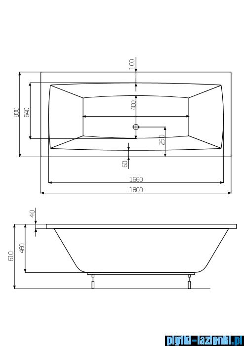 Roca Vita wanna 180x80cm z hydromasażem Smart Air Plus A24T076000