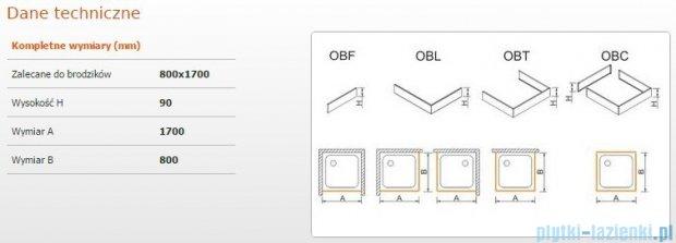 Sanplast Obudowa brodzika OBL 80x170x9 cm 625-400-1400-01-000