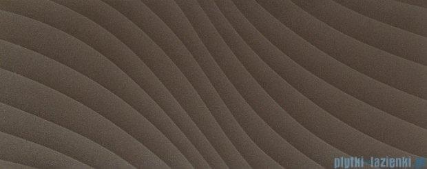 Tubądzin Elementary brown wave STR płytka ścienna 29,8x74,8