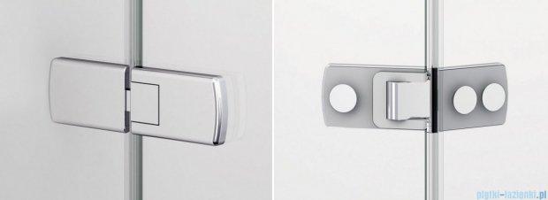 Sanswiss Melia ME13 Drzwi ze ścianką w linii z uchwytami i profilem prawe do 120cm efekt lustrzany ME13ADSM11053