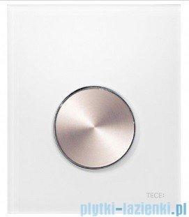 Tece Przycisk spłukujący ze szkła do pisuaru Teceloop szkło białe, przycisk stal szczotkowana 9.242.661