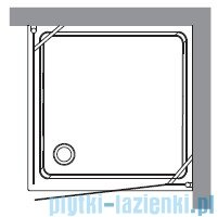 Kerasan Retro Kabina kwadratowa lewa szkło przejrzyste profile brązowe 90x90 9147T3