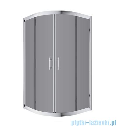 Omnires Health kabina 2-skrzydłowa niska JK28 90x90x165cm szkło grafit JK2809CLC2Grafit
