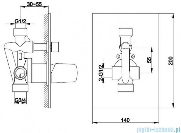 Kohlman Dexame zestaw prysznicowy chrom QW210LQ40