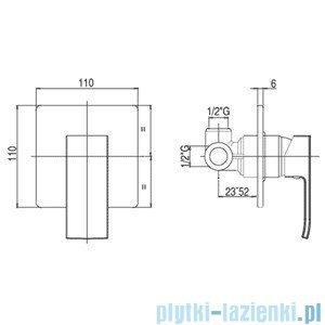 Paffoni Mieszacz podtynkowy Level Standard chrom mat LES010MC