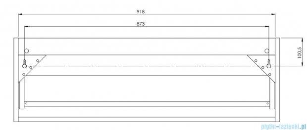 Antado Susanne szafka z umywalką Bali biała/blat szary 95x46cm AS-140/95-WS+AS-B/2-140/95-74+UCS-TC-65
