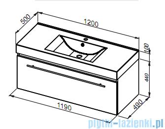 Aquaform Decora szafka podumywalkowa 120cm bordo 0401-542513