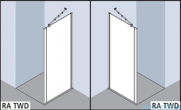 Kermi Raya Ściana boczna, szkło przezroczyste, profile srebrne 75x200 RATWD07520VAK