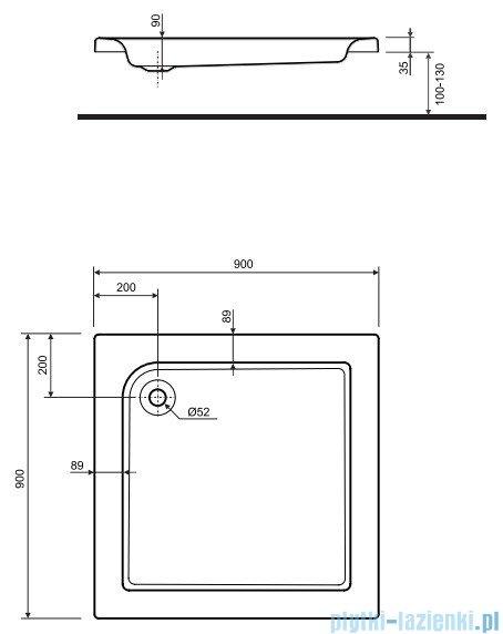 Koło Standard Plus Brodzik 90cm kwadratowy XBK1590000