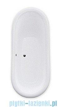 Besco Amelia wanna owalna Retro 190x77 + nogi białe #WKA-190WO+B