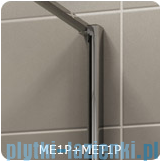 SanSwiss Melia MET1 ścianka prawa wymiary specjalne 90-140/do 200cm efekt lustrzany MET1PDSM21053