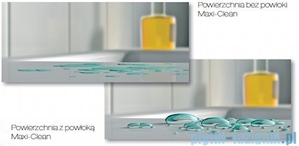 Roca Hall Umywalka nablatowa 52cm z otworem na baterię powłoka Maxi Clean A3278820MH