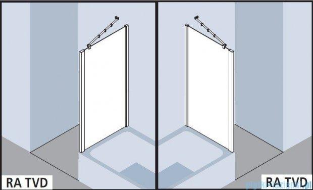 Kermi Raya Ściana boczna skrócona, szkło przezroczyste, profile srebrne 90x175 RATVD09017VAK