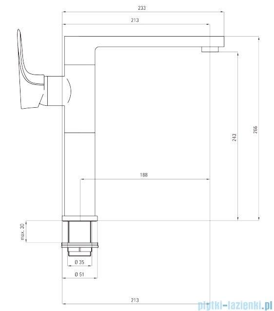 Deante Gardenia bateria umywalkowa stojąca z podwyższonym korpusem chrom BEG 021K