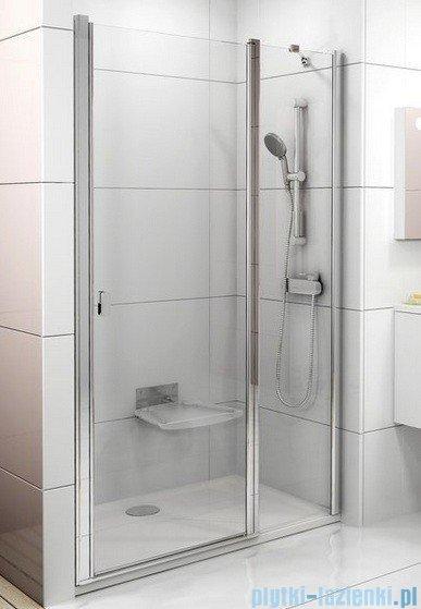 Ravak Chrome Drzwi prysznicowe CSD2-120 białe+transparent 0QVGC100Z1