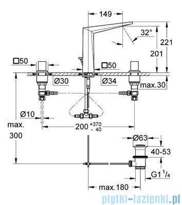 Grohe Allure Brilliant 3-otworowa bateria umywalkowa DN 15 chrom 20344000