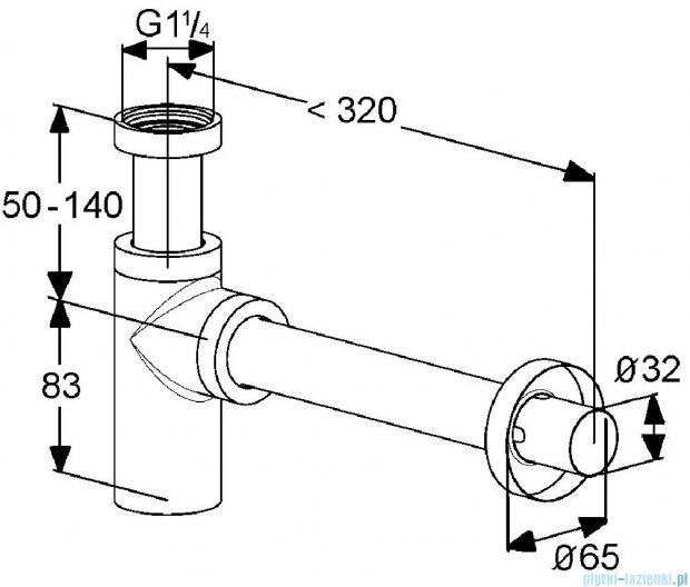Kludi Syfon butelkowy G 1 1/4x32mm chrom 100200500