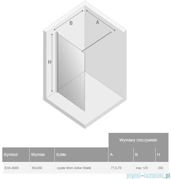New Trendy New Modus kabina Walk-In 80x200 cm przejrzyste EXK-0009