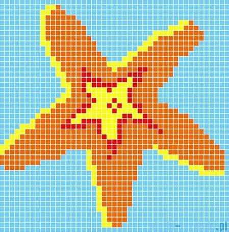 Dunin Q design mozaika szklana wzór 98x98 starfish