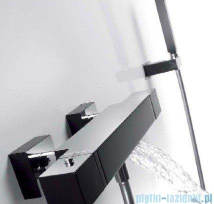 Tres Cuadro Exclusive Bateria termostatyczna wannowa kolor czarny chrom 6.07.174.9