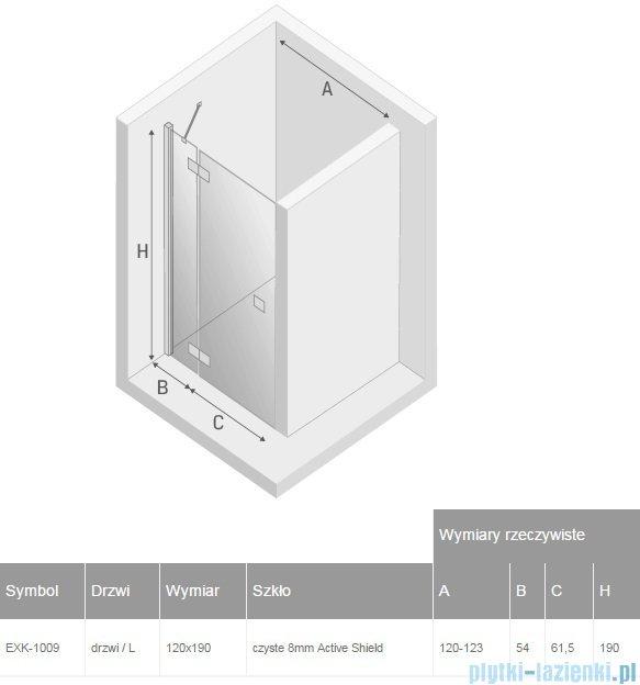 New Trendy Modena drzwi prysznicowe lewe 120 EXK-1009