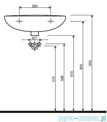 Koło Idol Umywalka 55cm z otworem M11155000