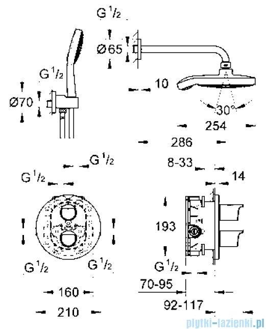 Grohe Grohtherm 2000 NEW podtynkowy system prysznicowy 34283001