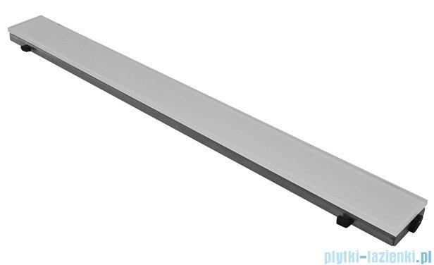 New Trendy Brillo ruszt do odpływów liniowych, szkło białe 78x6,5cm RU-0030