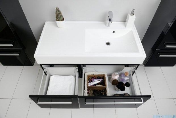 Antado Variete szafka z umywalką, wisząca 100 czarny połysk FM-442/6-9017 + FM-442/4-9017 + UNAM-1004P