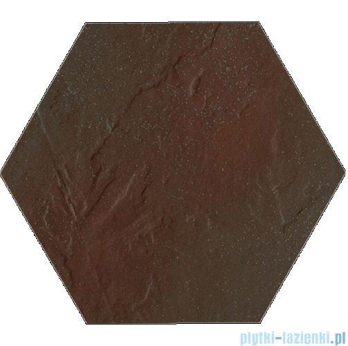 Paradyż Semir brown klinkier heksagon 26x26