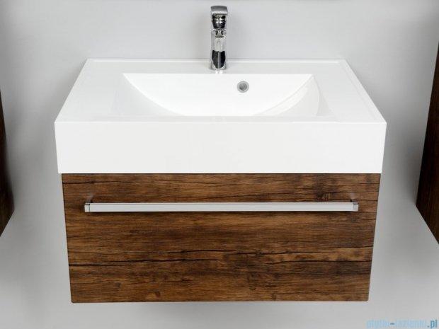 Antado Spektra szafka z umywalką, wisząca 70x50x33 stare drewno FDF-442/7GT-50 + UNA-700