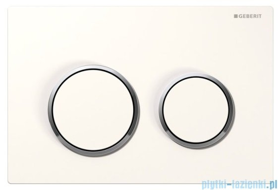 Geberit Omega20 przycisk spłukujący biały/chrom błyszczący/biały 115.085.KJ.1